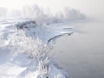 ...Холодный берег Енисея....