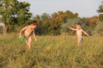 Дети на лугу