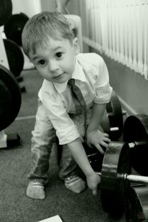 Ильяс на тренировке