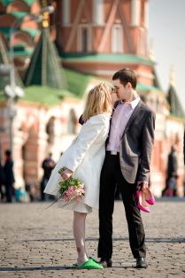 Свадьба на Красной площади.