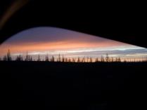 Закат в районе Полярного Урала