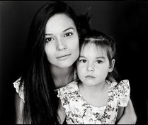 Лиля Бурдинская и её дочь Амелина