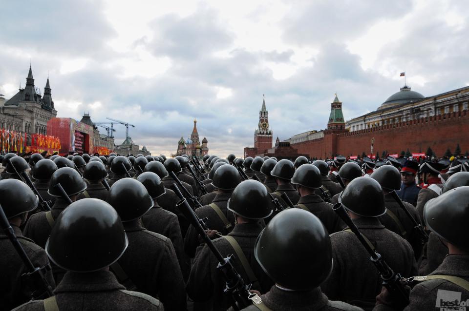 feierlicher Marsch gewidmet 71. Jahrestag Parade in 1941