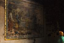 Фреска, закрытая от глаз людских и ждущая реставрации
