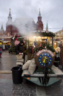 Москва новогодняя. Каштаны французские.