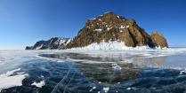 Хобой в ледяных оковах Байкала