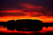 Пламенный закат