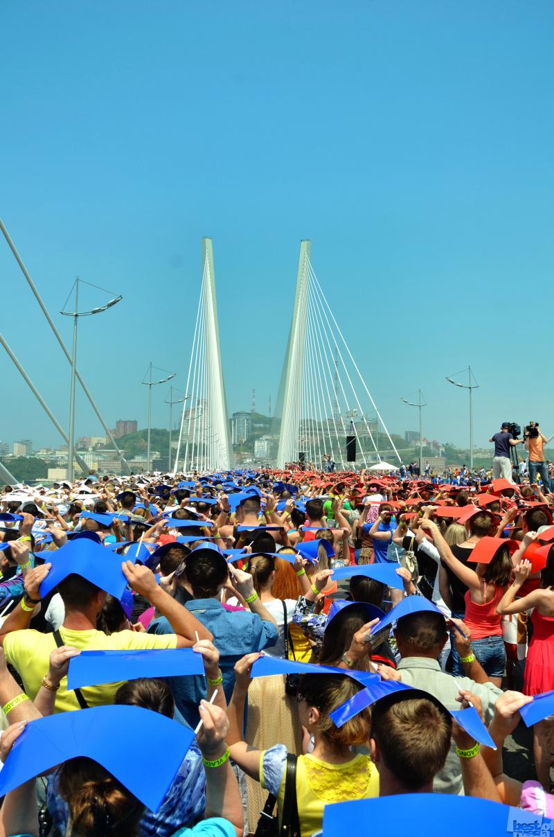Мировой рекорд на Золотом мосту