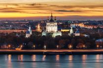 Вечерний Петербург. Смольный собор