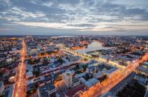Панорама вечернего Екатеринбурга