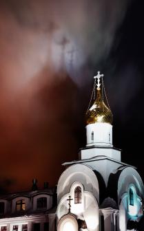 Небесное светопредставление в Ханты-Мансийске