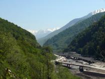 Строительство железной дороги Адлер-Красная Поляна