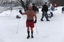Дед Мороз на тренировке