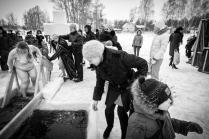Зимние контрасты на реке Волга...