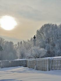 Зимнее солнце.