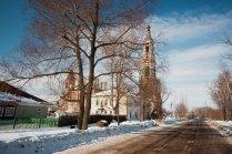 Зимний сельский пейзаж