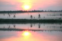 Рассвет на реке Собь.