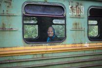 Пожилая пассажирка едет в поселок Каринторф