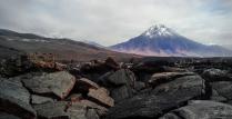 Следы вулканической активности.