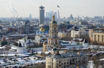 Вид на Новоспасский монастырь с Крестьянской заставы