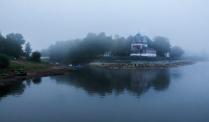 Туманным утром в Угличе.