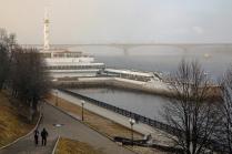 Здание речного вокзала в г. Ярославль. Вид с верхней набережной.