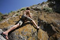 Разминка на скале