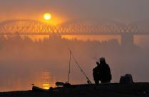 Клевое утро. Сентябрь. Река Обь.