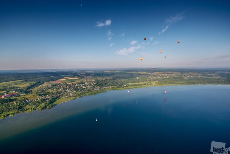 Пролетая над Плещеевым Озером