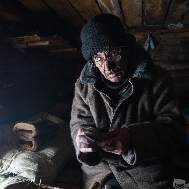 Портрет эвенка в зимовье