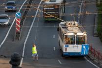 Trolleybus driver