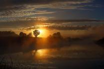на восходе дня