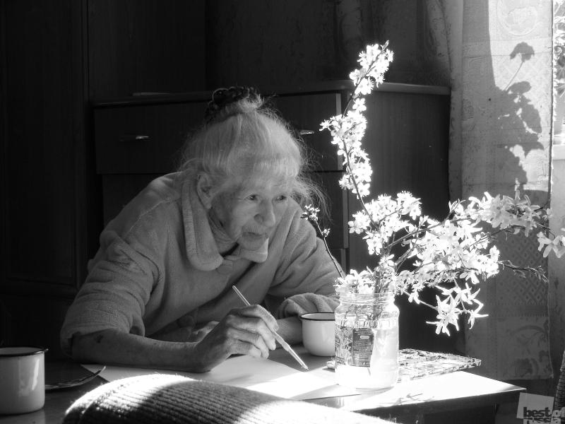90 летняя художница