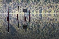 Телецкое озеро. Затопленный причал.