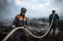 Тушение торфяных пожаров в Тверской области