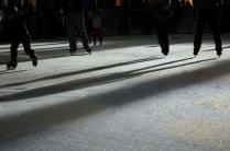 И тень, и свет, и режет острый лёд конёк...