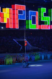 Один из волнительных моментов закрытия Паралимпийских игр