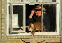 бабушка с котом