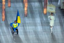 Украинский спортсмен на открытие паралимпийских игр в Сочи
