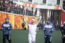 Олимпийский огонь в Чеченской Республике