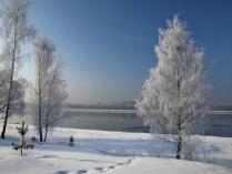 Зимнее утро на Волге