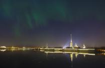 Санкт-Петербург. Полярное сияние