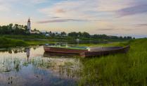 Вечер на берегу реки Сухона