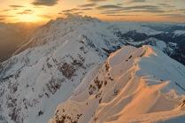 Рассвет в горах Красной Поляны.