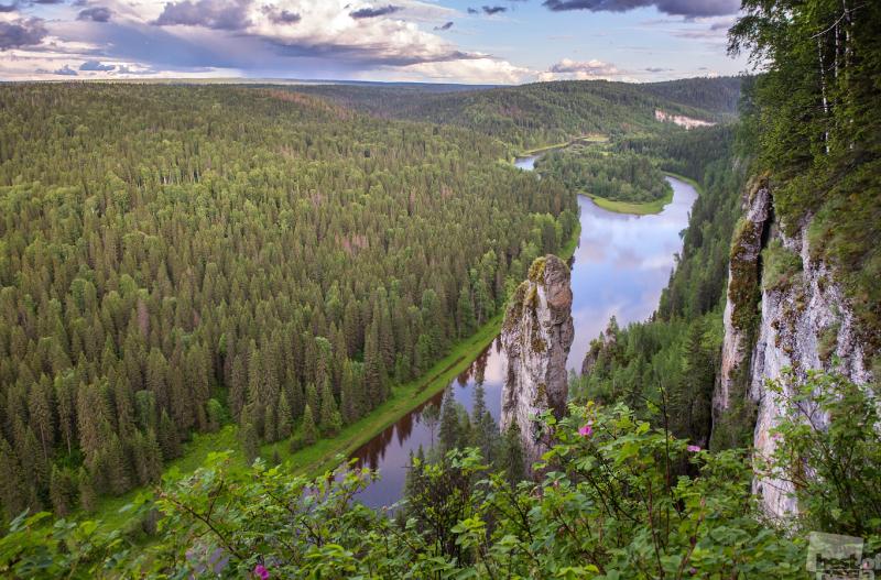 Usva river in the evening