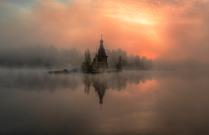 туманное утро на Вуоксе