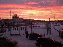 Закат в ноябре. Вид из моего окна.