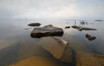 Спокойное утро на озере Чебаркуль