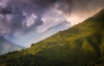 Закат над перевалом Аишхо.
