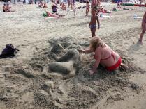 Пляжный скульптор